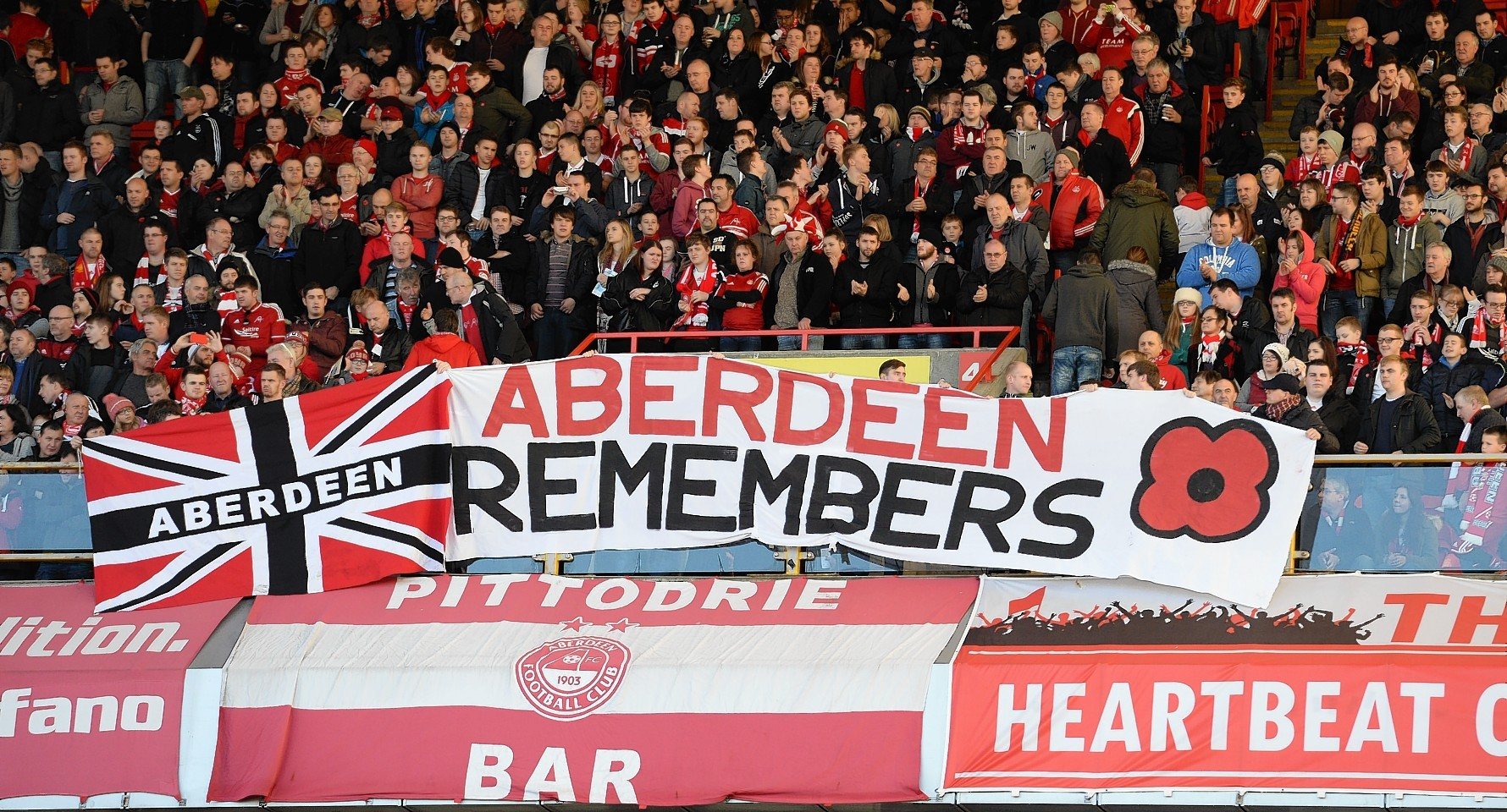 The Dons fans displayed this banner during today's match.