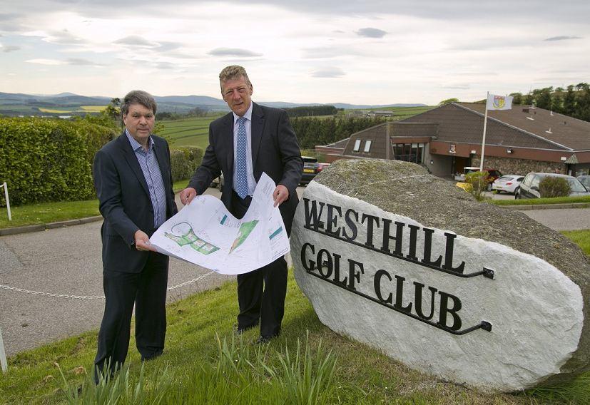 Douglas Gold, vice-captain Westhill Golf Club, and Len Hubert, captain Westhill Golf Club