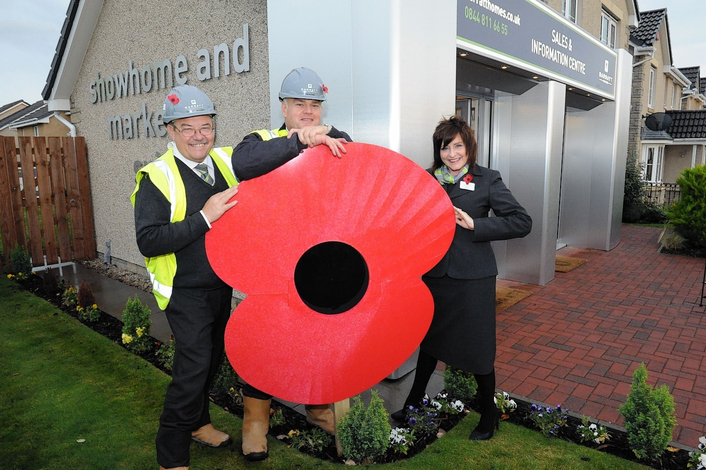 The Elgin poppy is unveiled