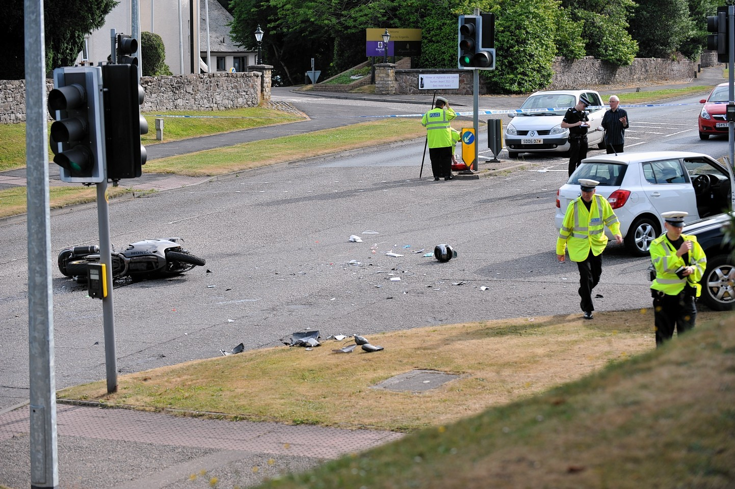 The scene of the crash in which Paul Todd died in July 2013.