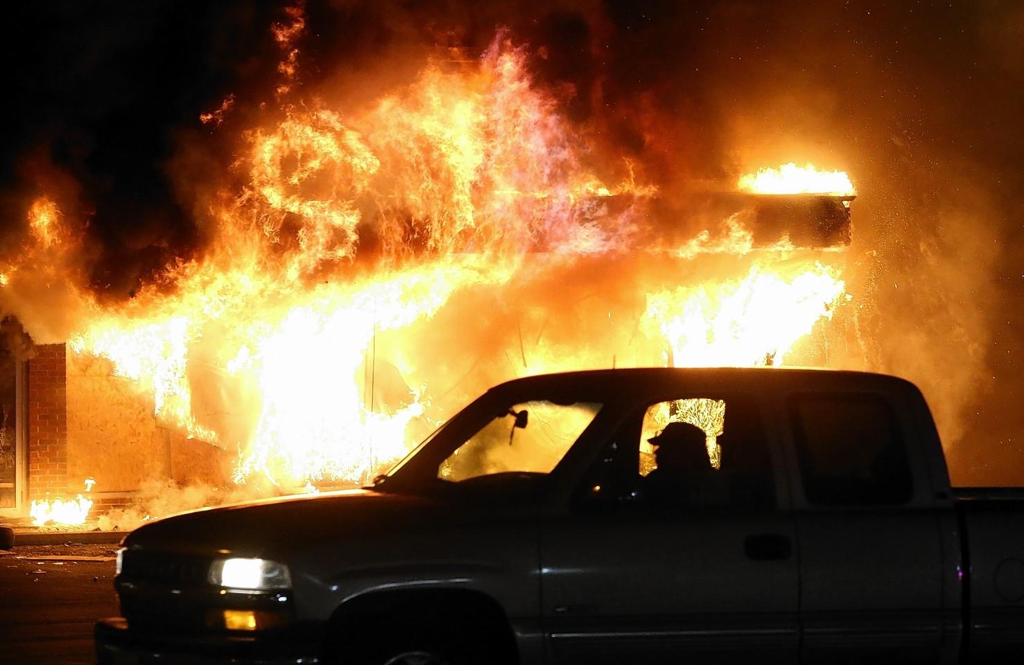 Ferguson in flames.