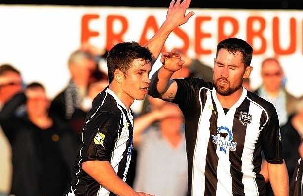 Fraserburgh duo Willie West and Marc Dickson were both on the scoresheet today.