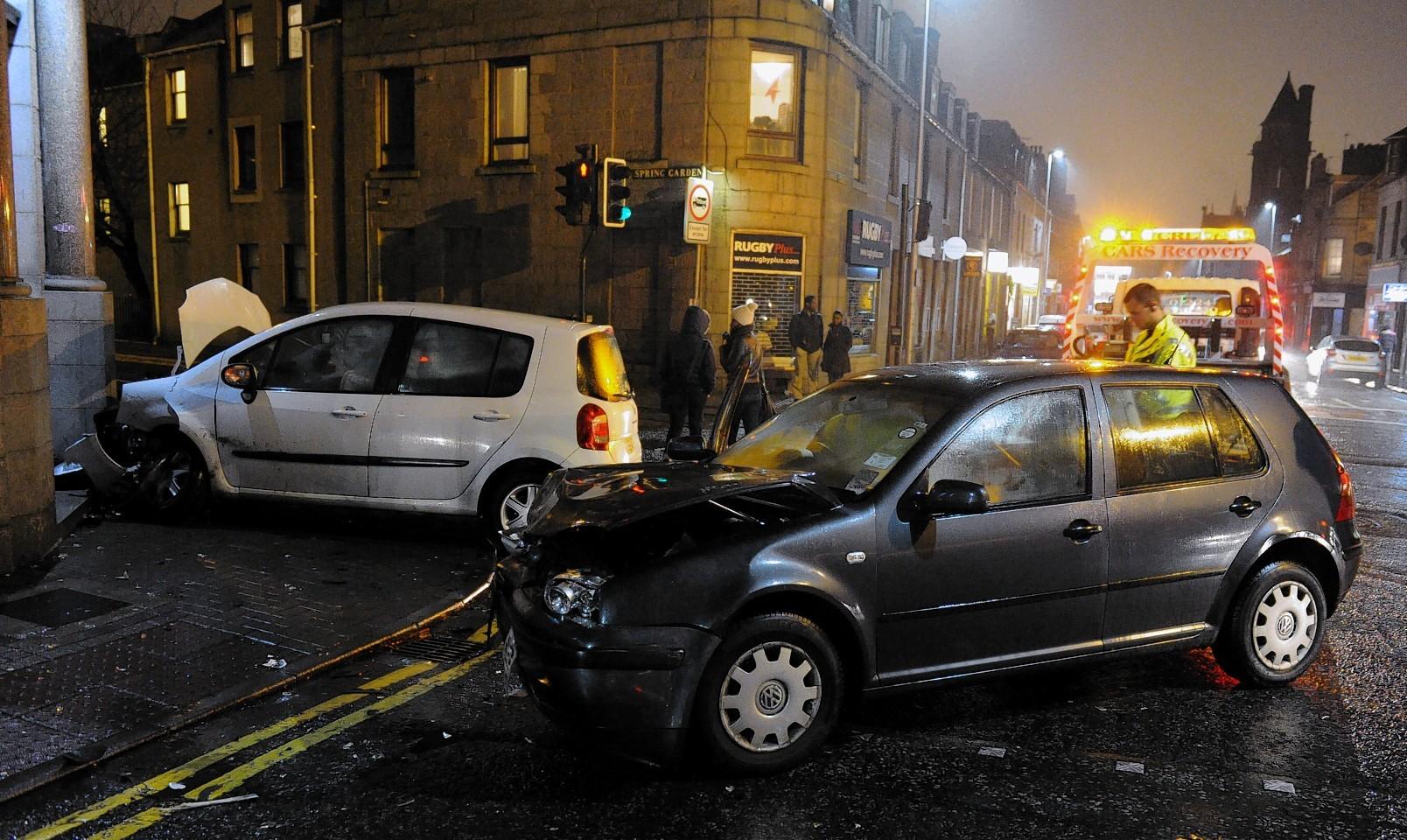 This evening's crash on George Street