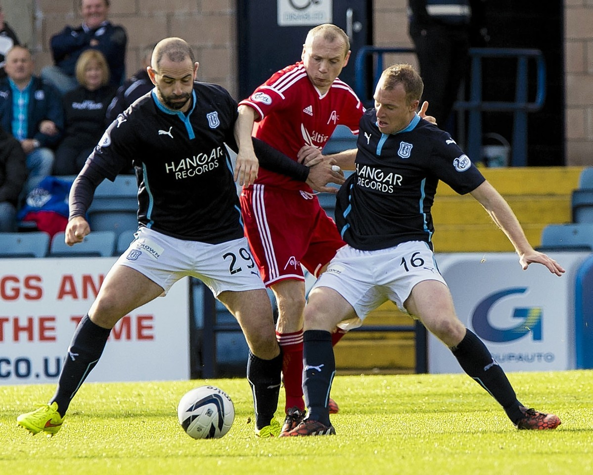 Willo Flood, up against Dundee duo Gary Harkins and David Clarkson, will miss today's game.
