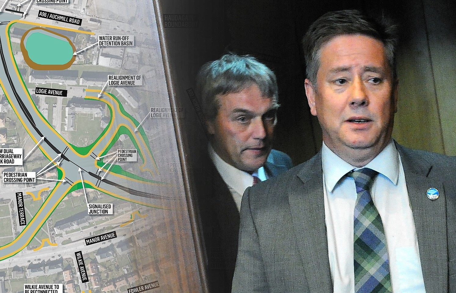 Willie Young has accused Transport Scotland of not communicating with the Scottish Government over plans for the Haudagain Roundabout.