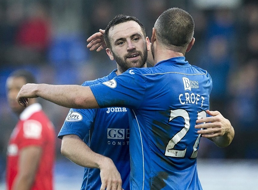 St Johnstone will be without James McFadden's services this evening but Lee Croft may return