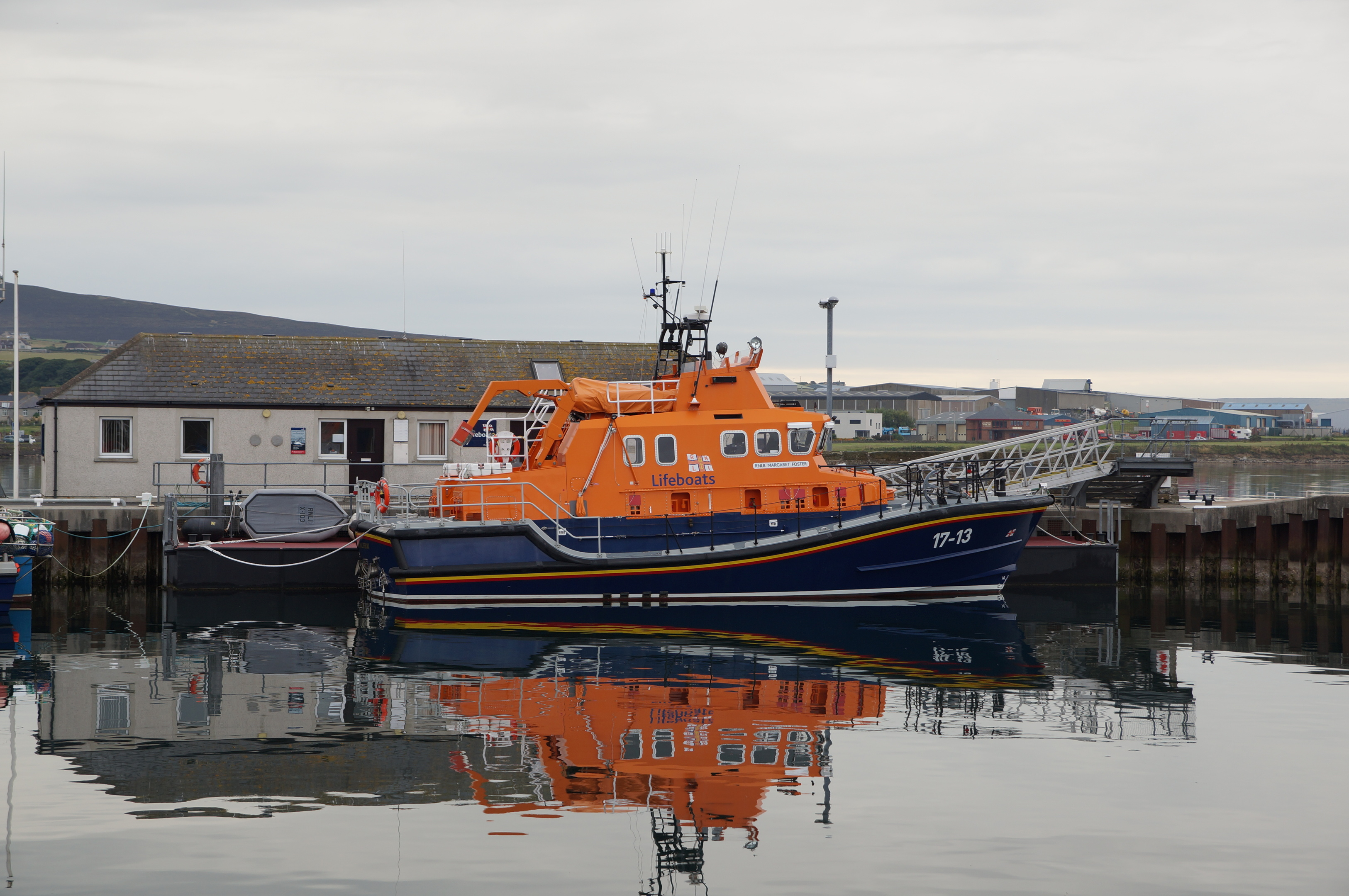 Kirkwall Lifeboat at the town's harbour