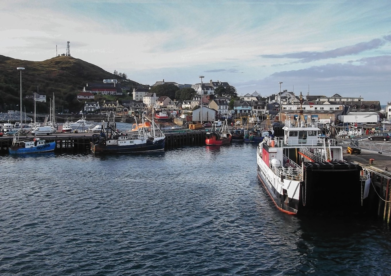 The body was transferred to Mallaig Harbour