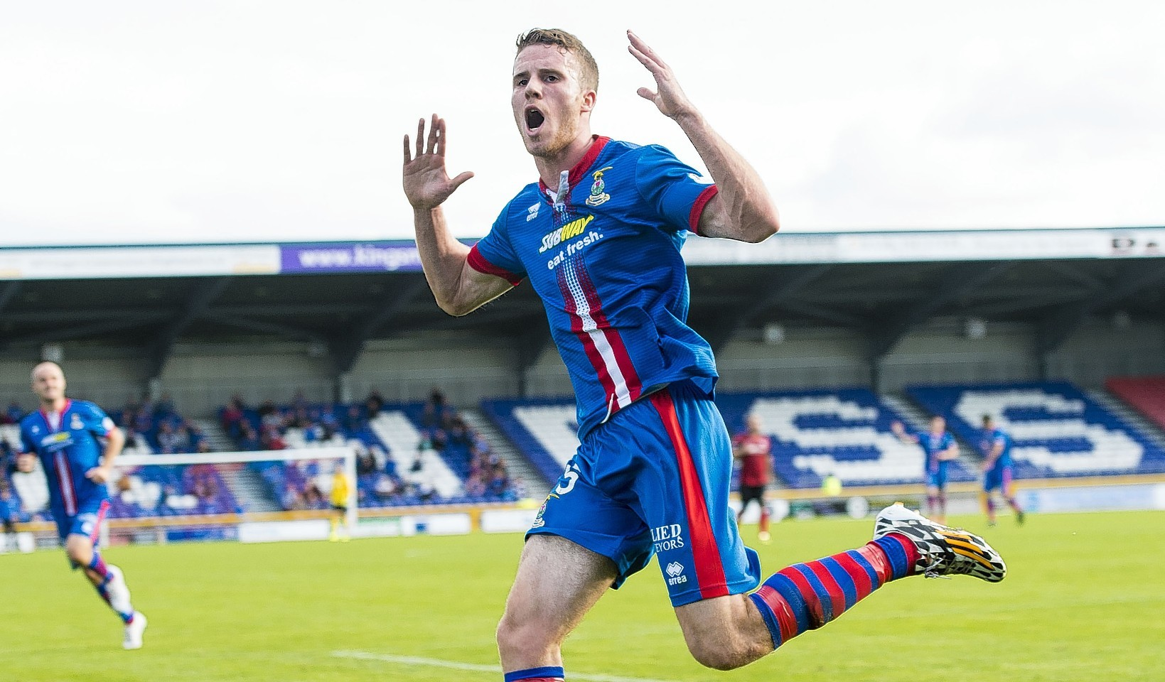 Marley Watkins during his time at Caley Thistle.