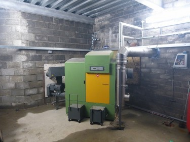 The new woodchip boiler at Mingary Castle