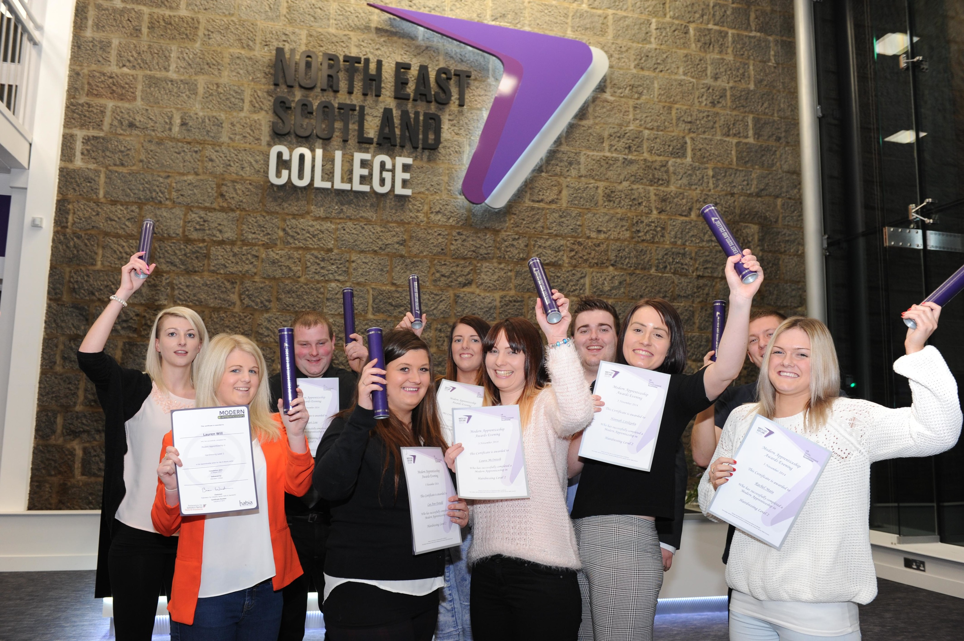 Apprentices at Aberdeen City campus