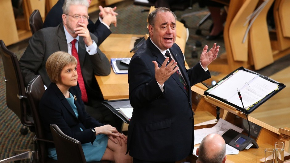 Alex Salmond has taken part in his final First Minister's Questions session at Holyrood