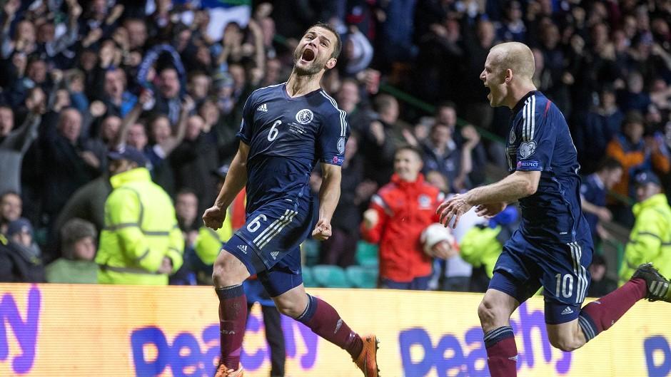 Shaun Maloney celebrates scoring Scotland's winner against the Republic of Ireland
