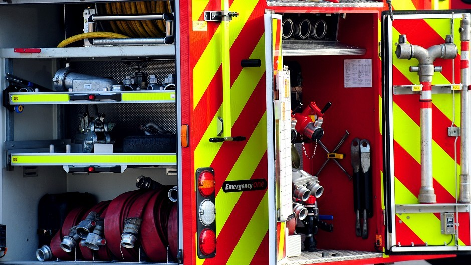 Firefighters have been called to a report of a bus on fire in Wick