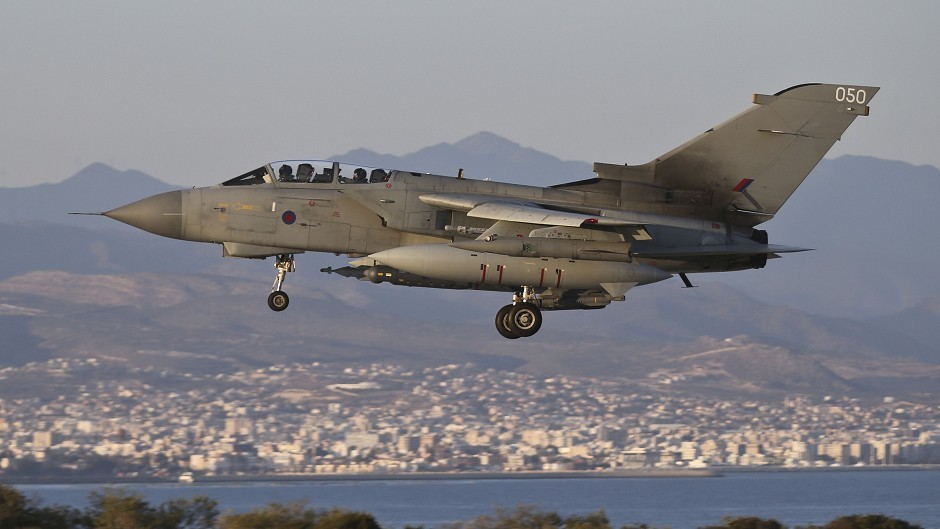 RAF Tornado GR4s took part in a coalition air strike against an IS bunker in northern Iraq (Ministry of Defence)