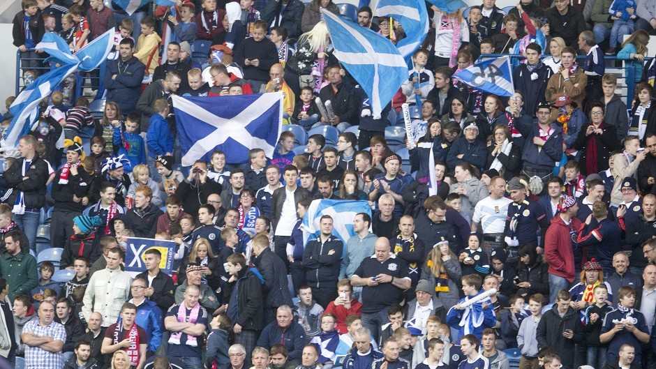 A Scotland fan was hurt during the match at Celtic Park
