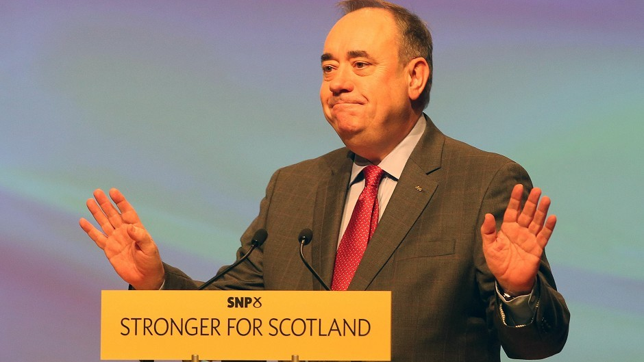 Alex Salmond resigned as First Minister in a speech to the Scottish Parliament