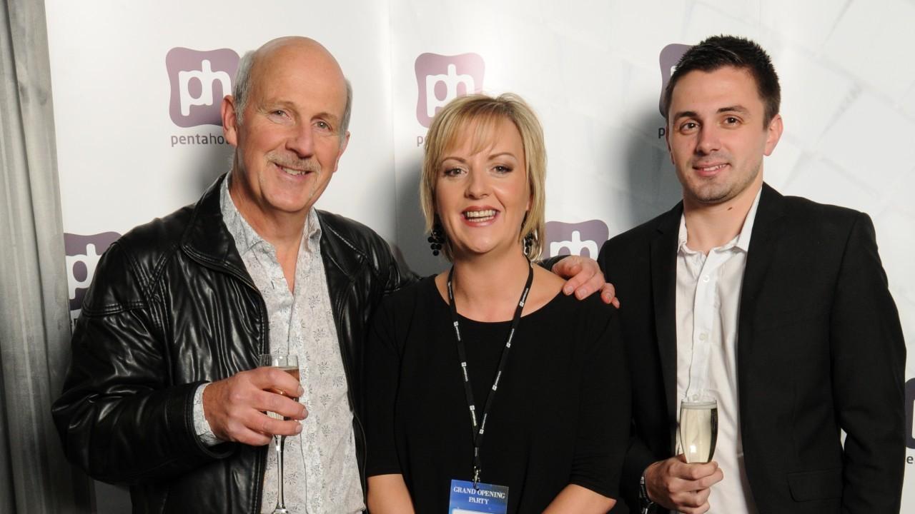 Peter Logie, Ina Davies of Pentahotel Inverness, Matthew Logie