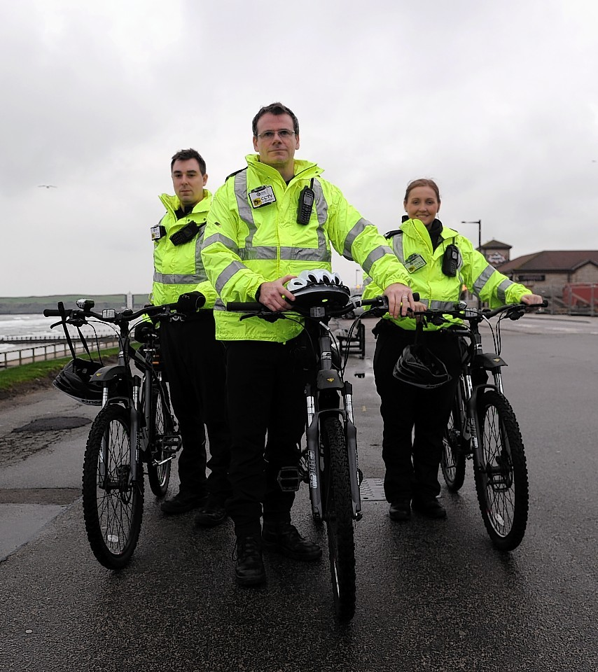 From left to right PC Chris Tait, Inspector Jason Carrigan and PC Robyn Sangster.