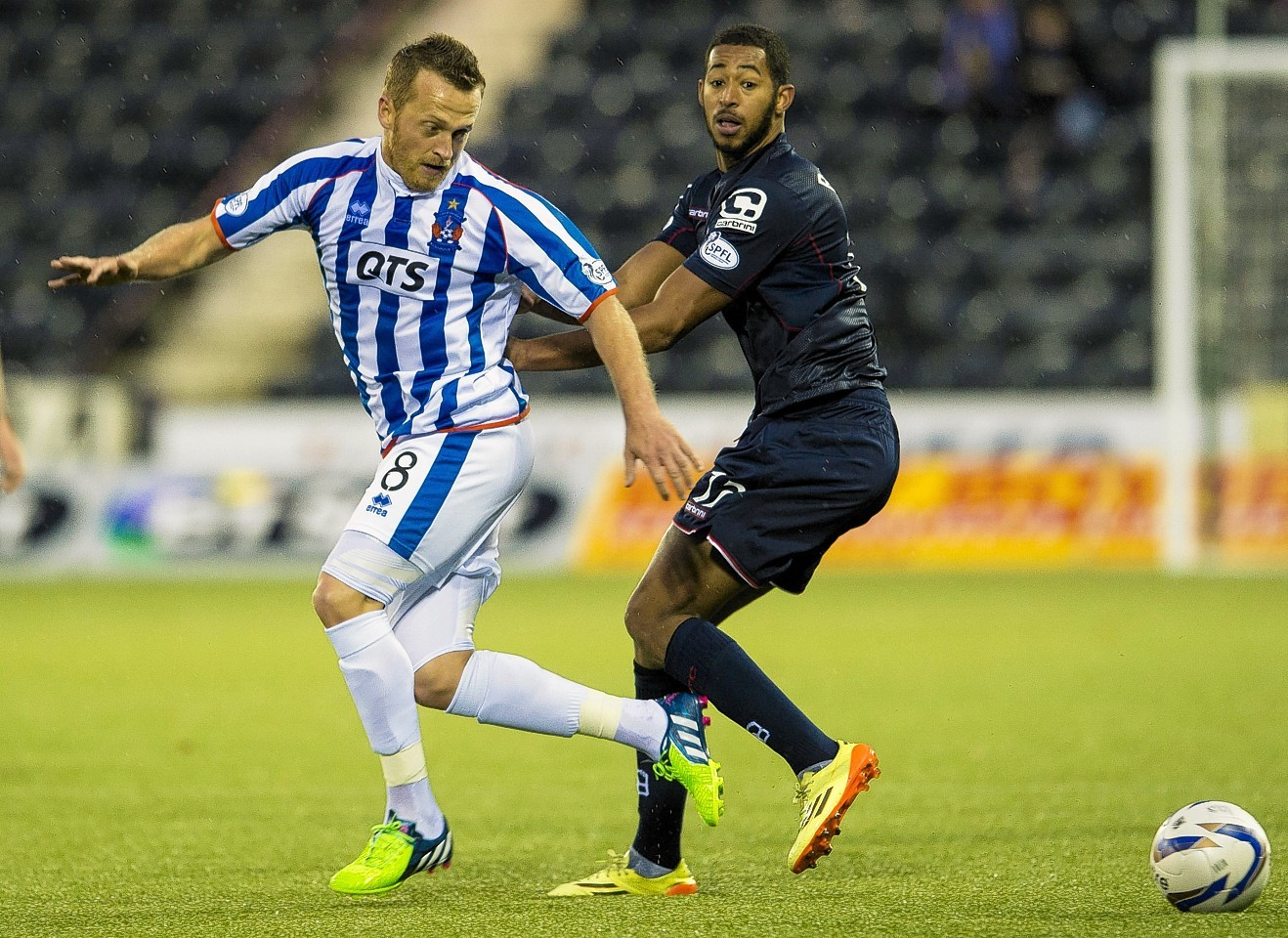 Reckord in action against Kilmarnock