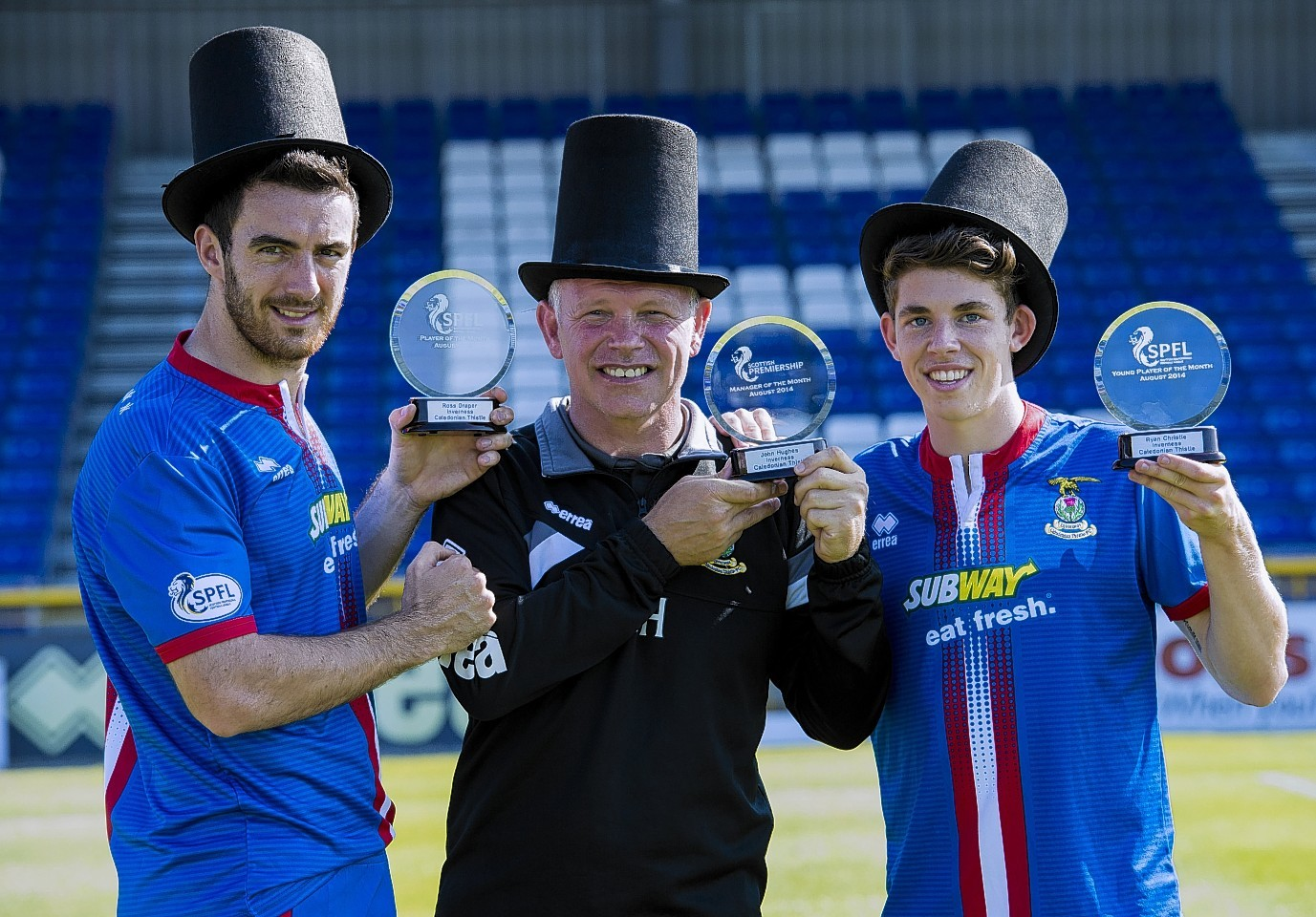 Christie was named young player of the month for August alongside player of the month Ross Draper and manager of the month John Hughes
