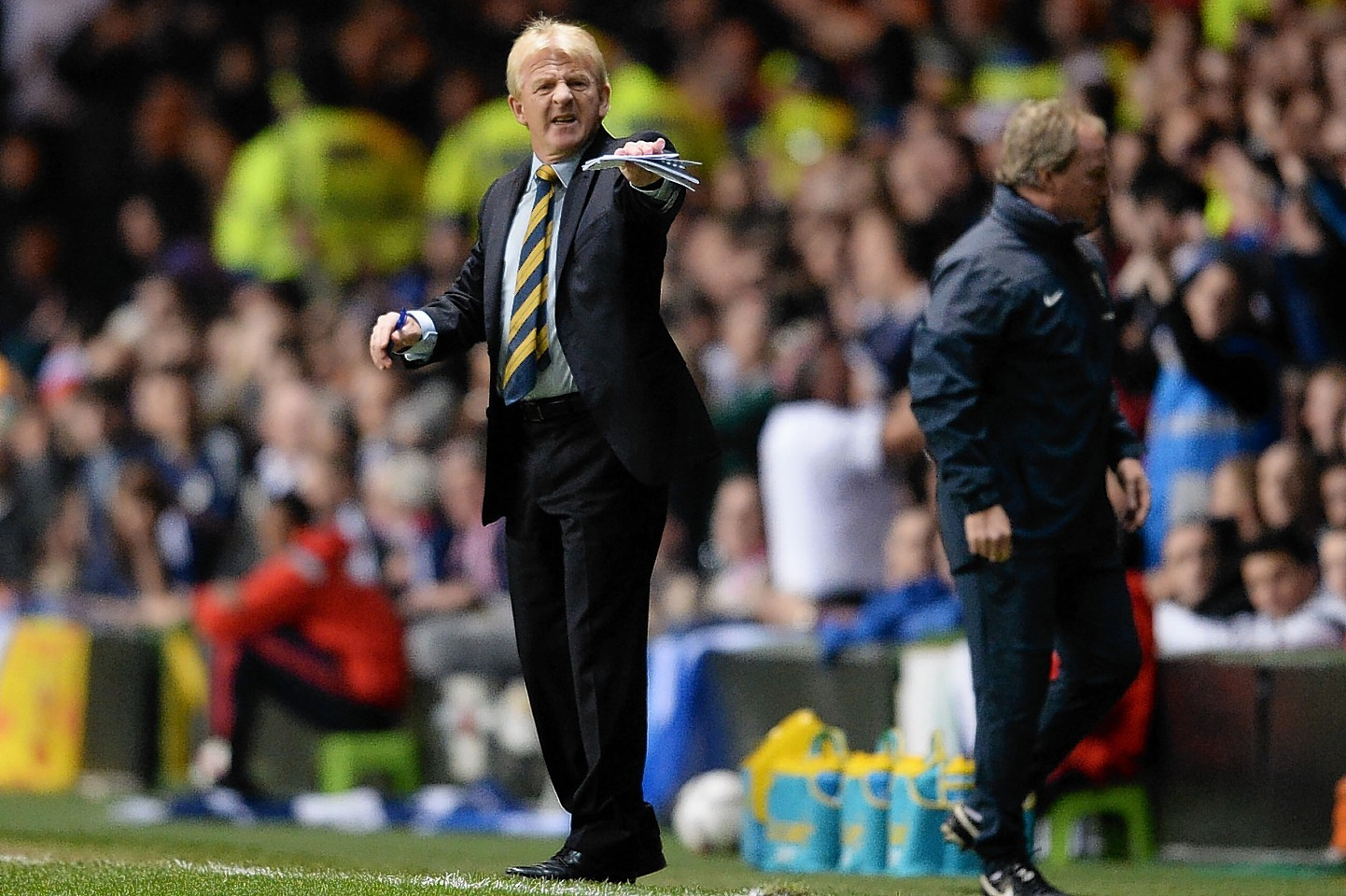 Gordon Strachan will have been disappointed with the lapse in concentration that led to England's third and decisive goal