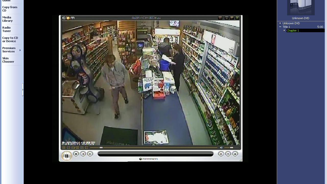 CCTV showing some of the last moments before Shaun's disappearance
