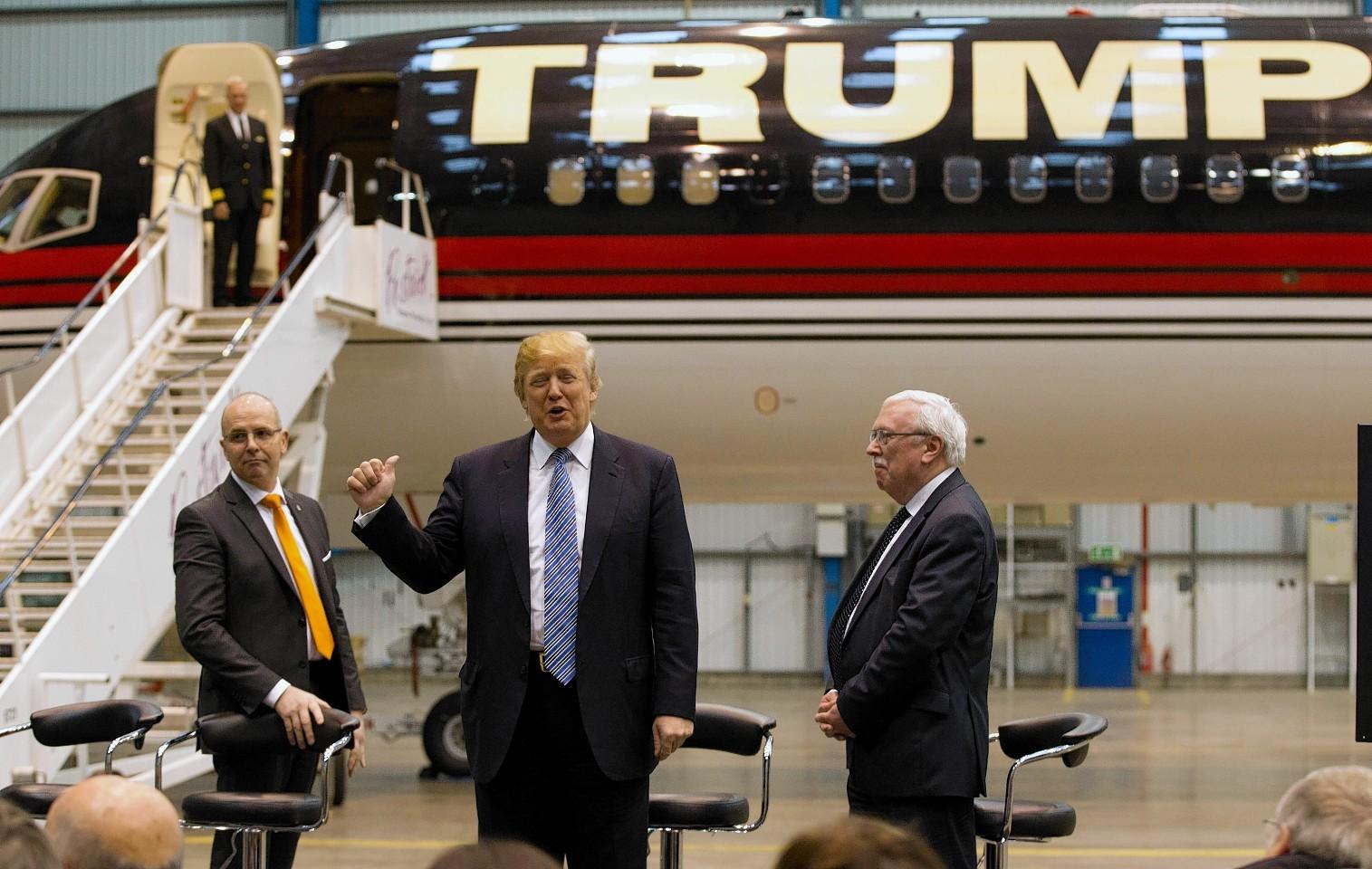Donald Trump at Prestwick Airport