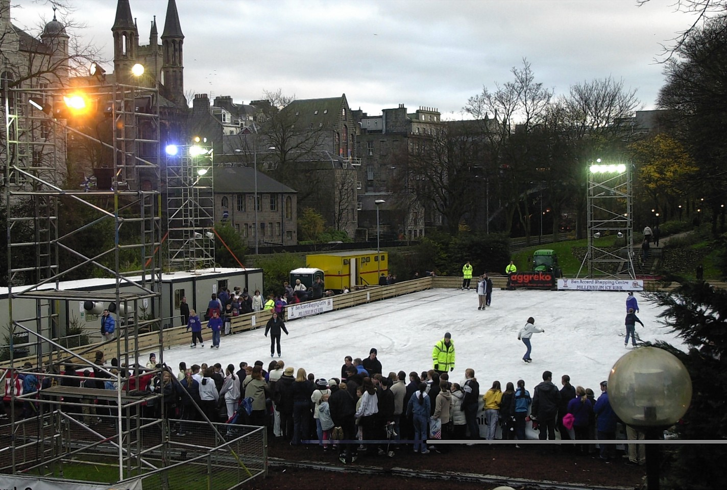 The Union Terrace Gardens ice rink
