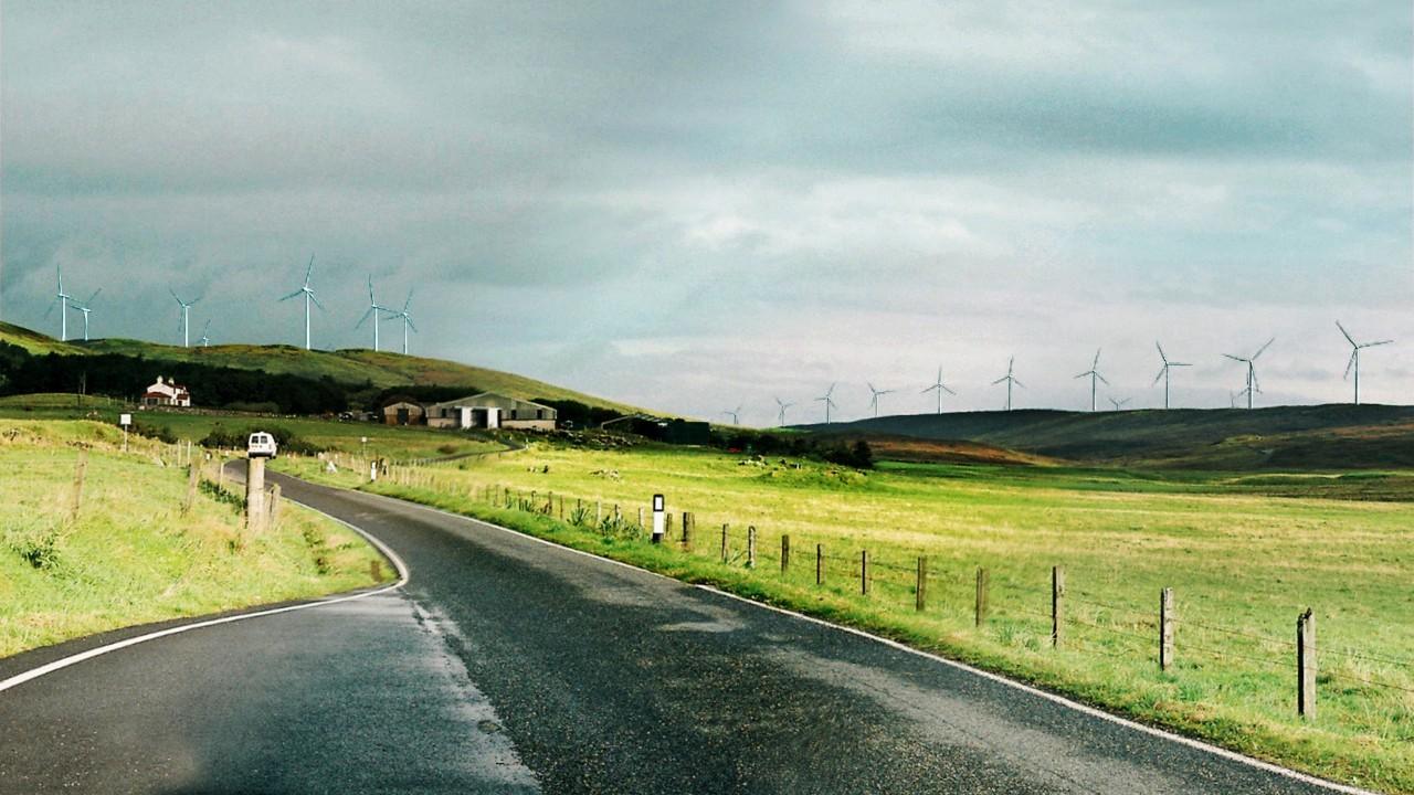 Artist impression of planned Viking Energy wind farm in Shetland.