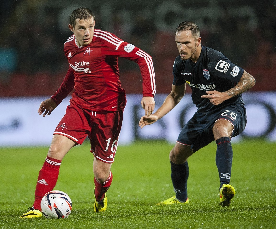Martin Woods in action on Monday night