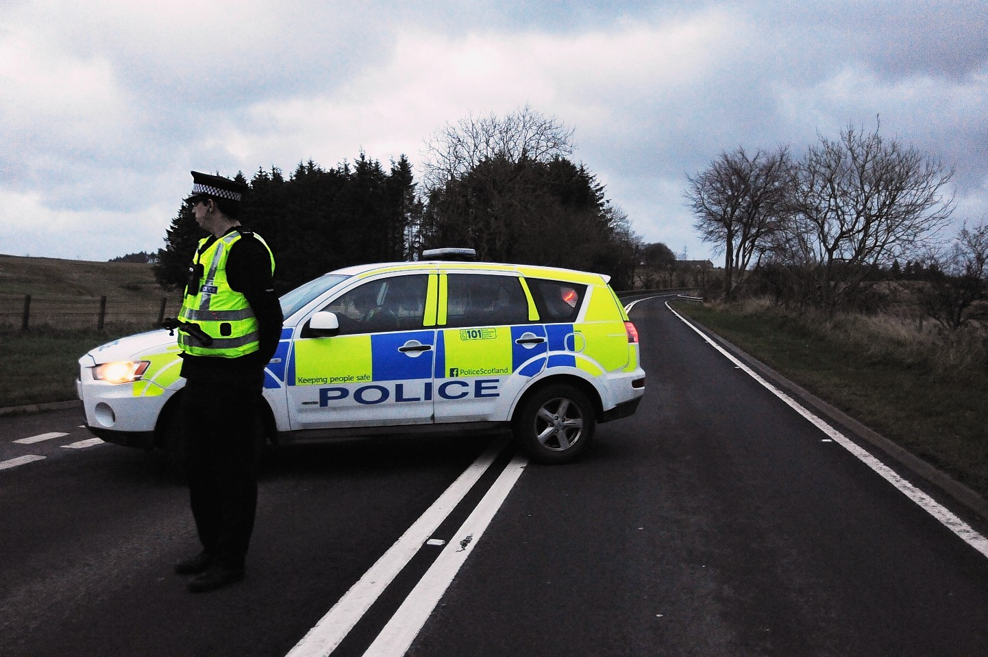 Emergency services have been called to the A944 near Dunecht
