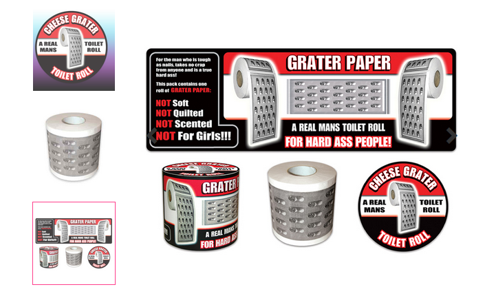 cheese grater toilet roll