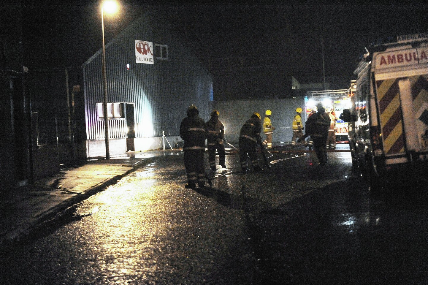 Crews tackled the blaze yesterday evening