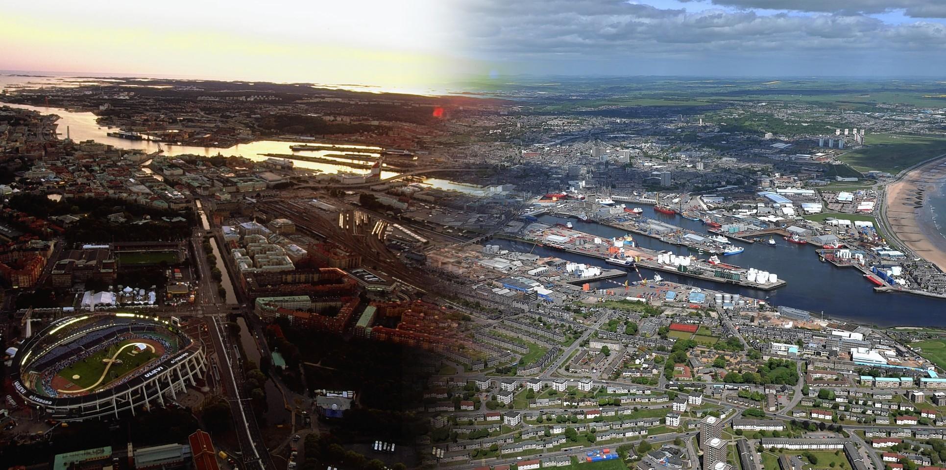 Aberdeen and Gothenburg