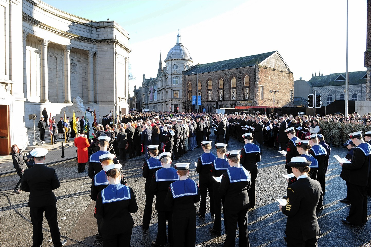 Remembrance Sunday in Aberdeen