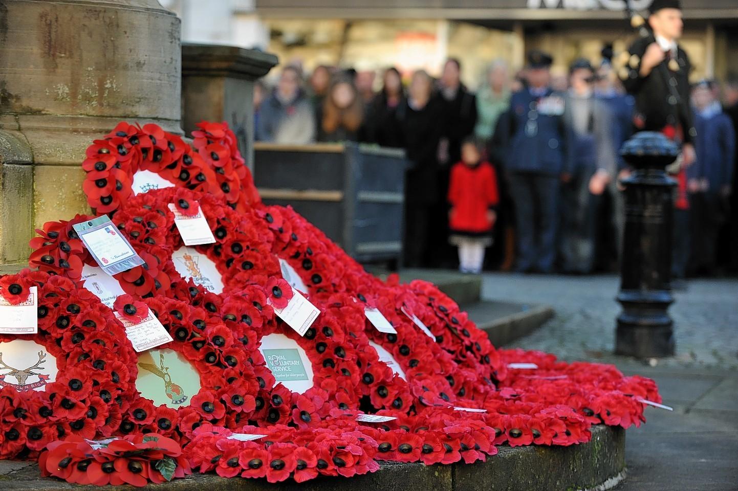 Remembrance day in Elgin