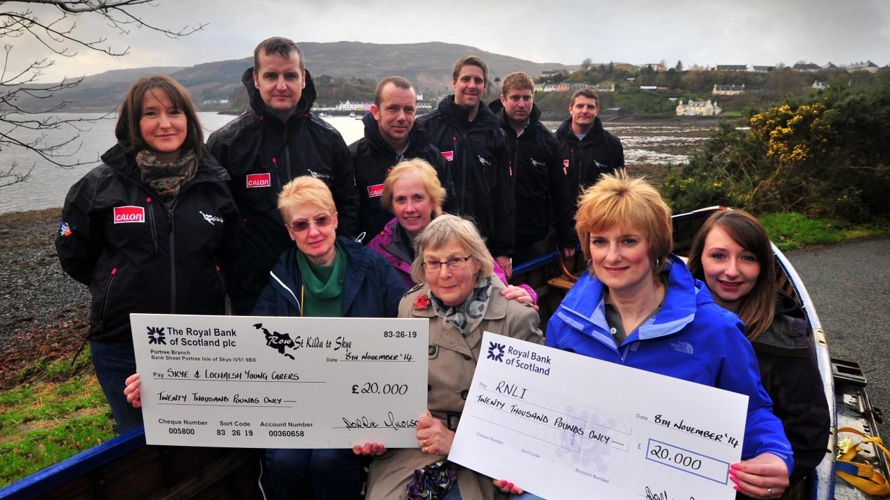 Row St Kilda cheque presentation