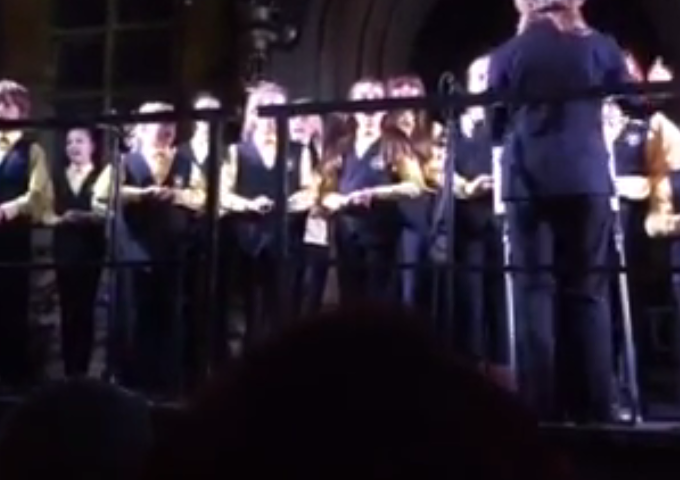 Star Struck perform at the Inverness Christmas light switch on