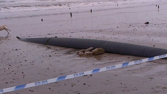 Where the torpedo was thought to be buried at West Beach, Lossiemouth