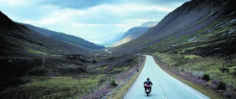 David Beckham rides through the Scottish landscape in the finished Haig Club advert