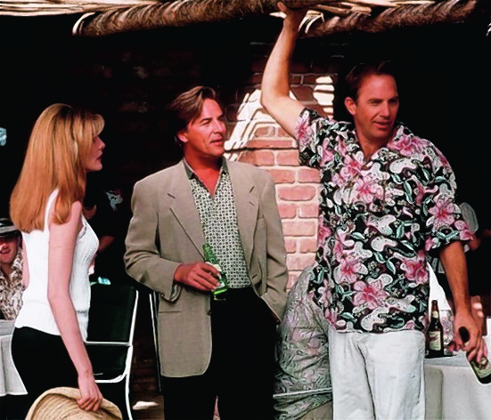 Rene Russo, Don Johnson and Kevin Costner in Tin Cup