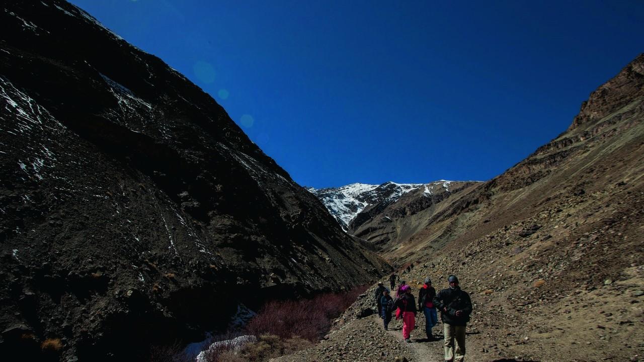 trekking at Hemis National Park