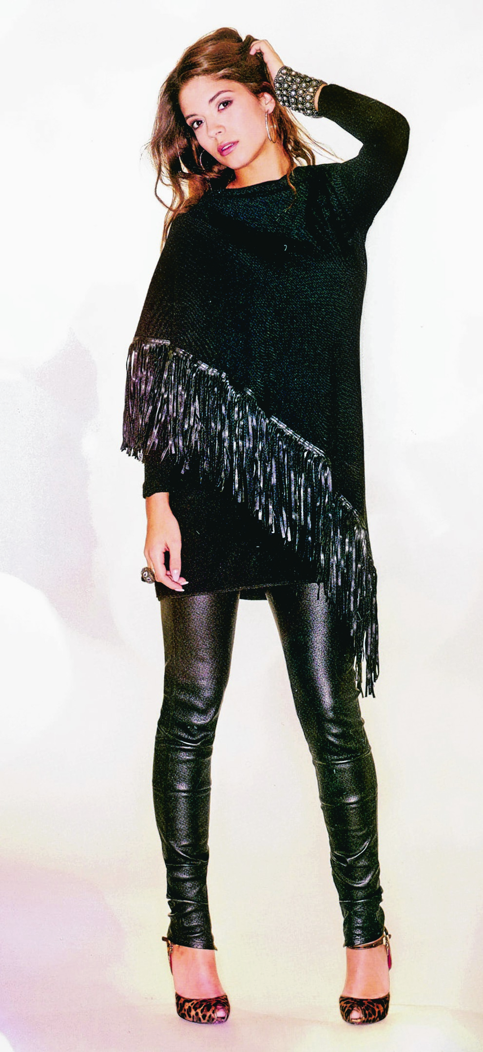 Beautiful leather fringed Icona dress/top - £200. Available at Catwalkers of Ellon. Tel 01358 720341