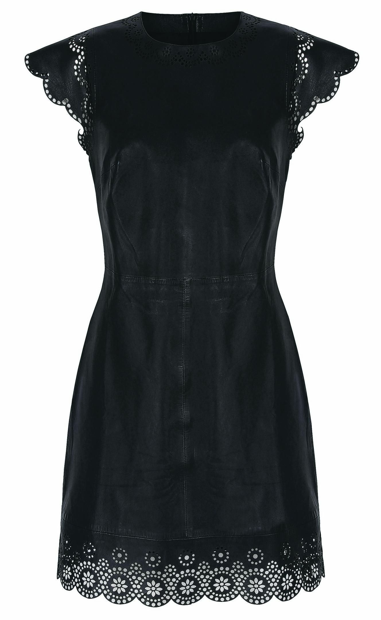 Dickins & Jones Cap Sleeve Leather Dress, House of Fraser