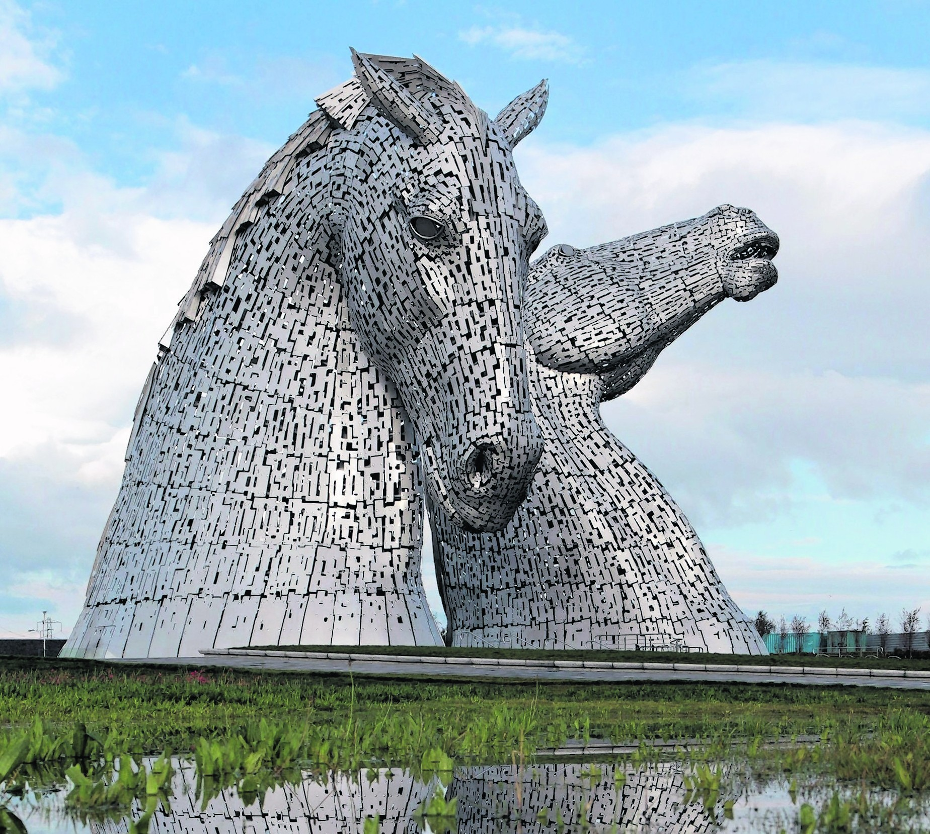 The Kelpies in Helix Park, Falkirk have helped boost visitor numbers to the area