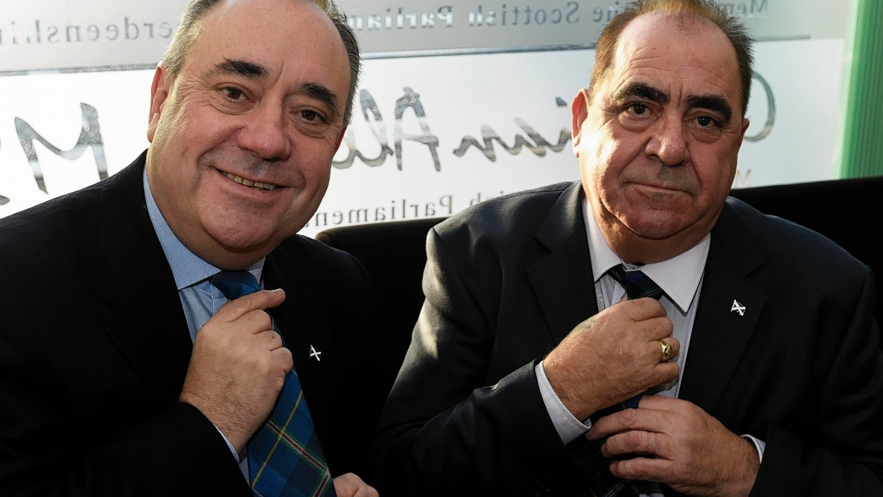 Not only do they look alike, they also sort their ties alike