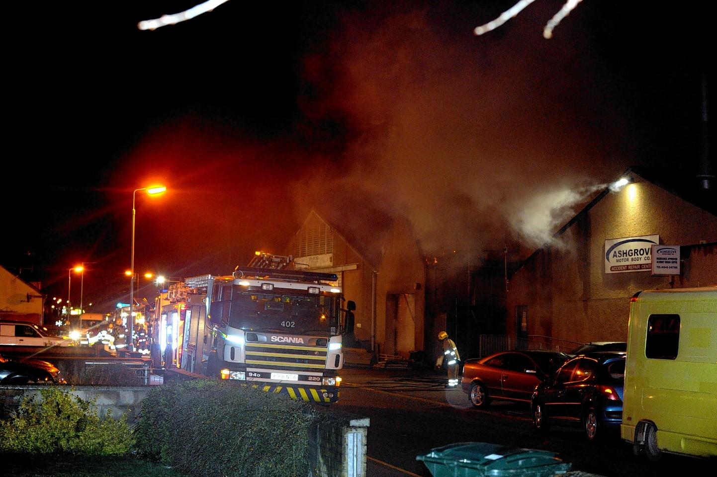 Ashgrove Road fire, Elgin