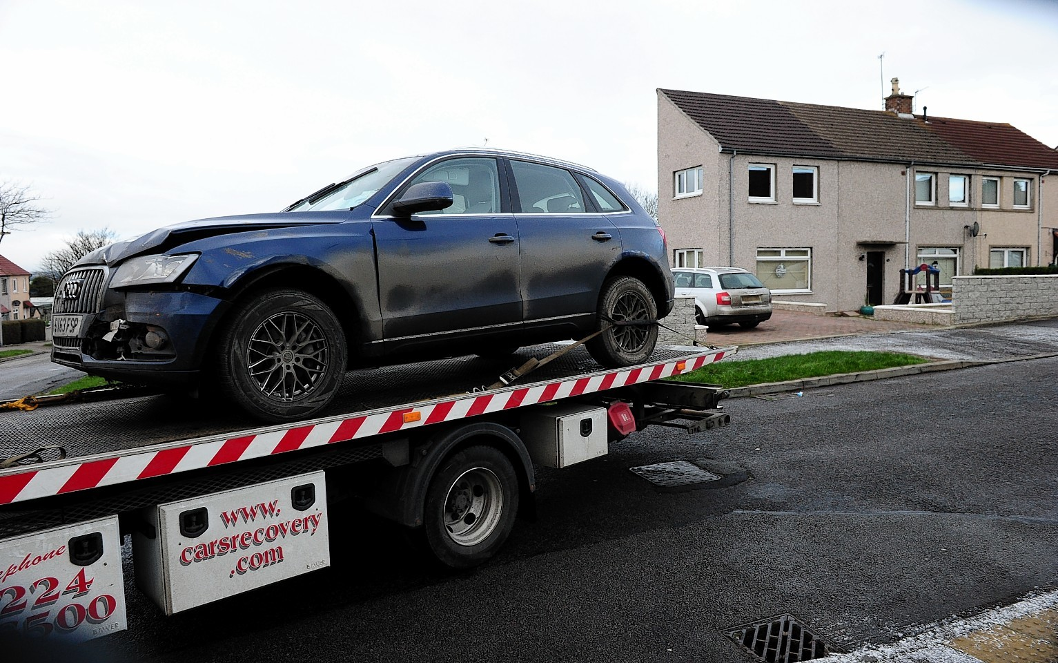 The Audi 4x4 recovered near Byron Square