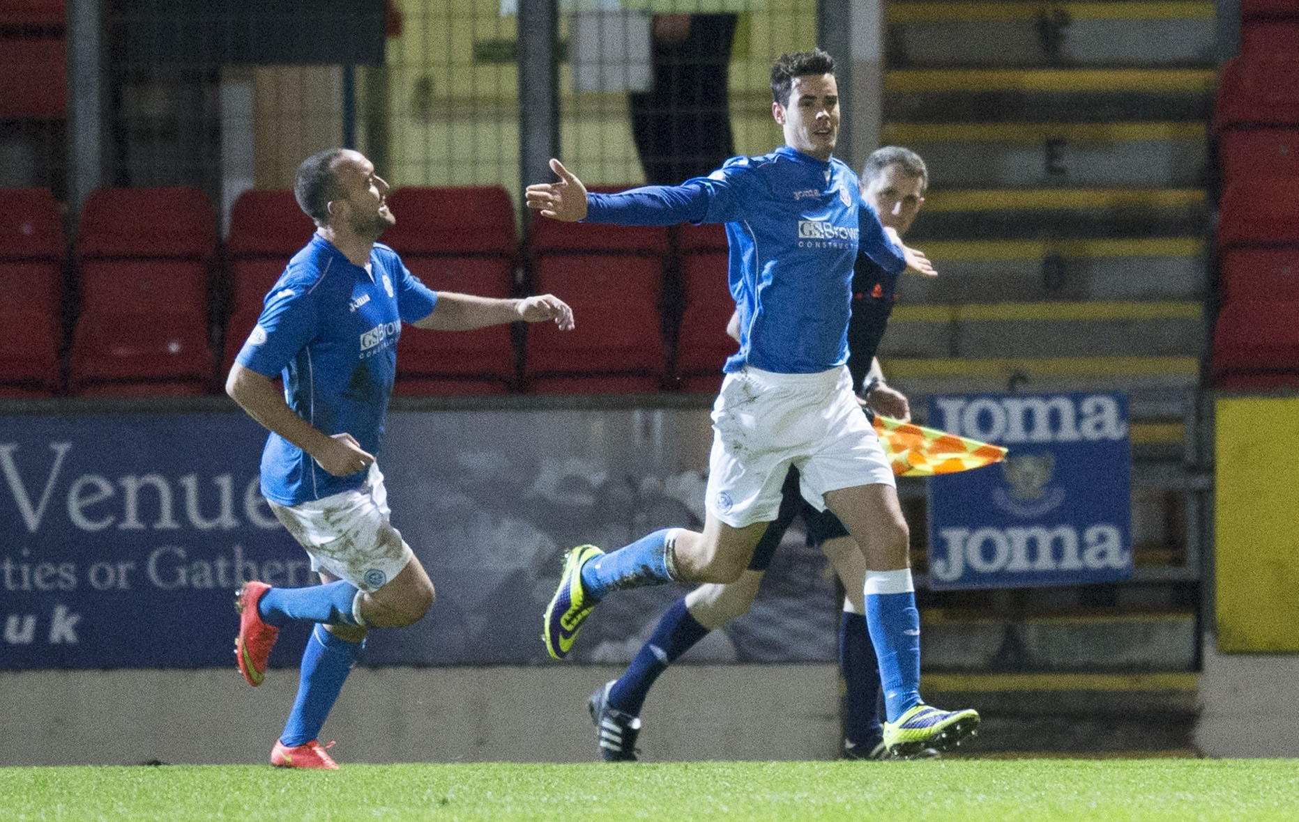 Brian Graham celebrates netting the only goal of the game
